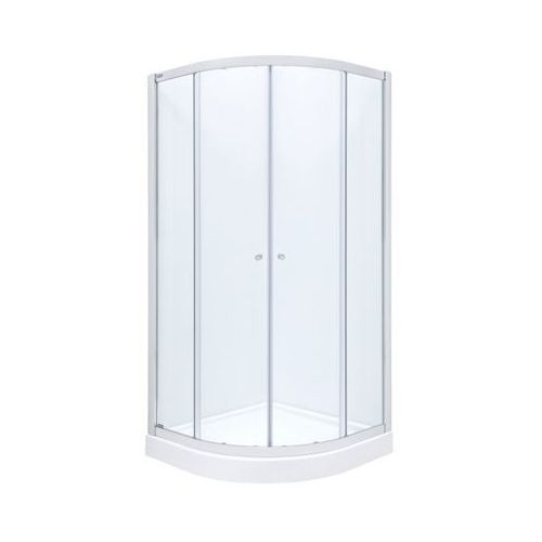 Roca Roca city new square kabina 90x90x185 cm, profile aluminiowe chrom, szkło transparentne amp0109012  90 x 90 (AMP0109012)