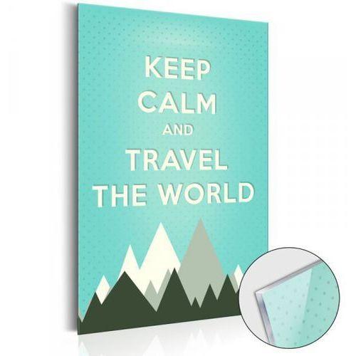 Obraz na szkle akrylowym - KEEP CALM and travel the world [Glass]