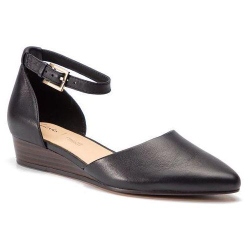 Półbuty CLARKS - Sense Eva 261392234 Black Leather, kolor czarny