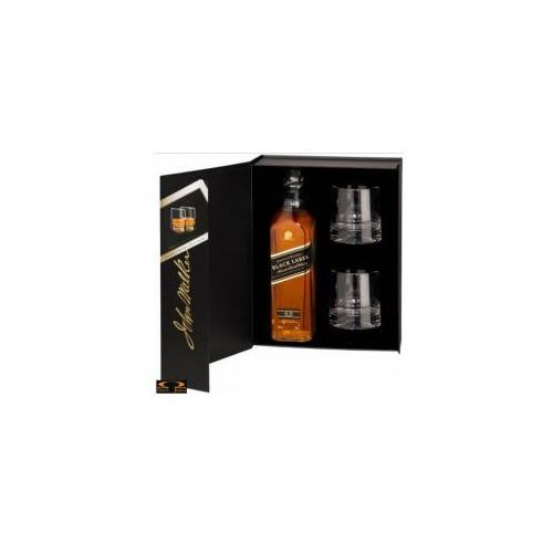 Johnnie walker Whisky black label 0,7 l. + 2 szklanki