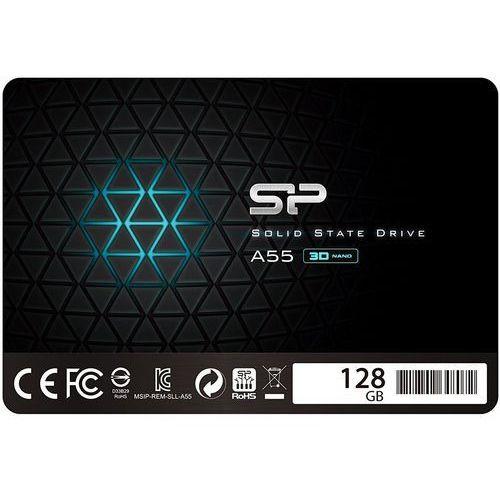 """Dysk SSD Silicon Power A55 128GB 2.5"""" SATA3 (520/330) 7mm, 1_606368"""
