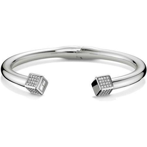 Tommy hilfiger solidna stalowa bransoletka z kryształami th2700740
