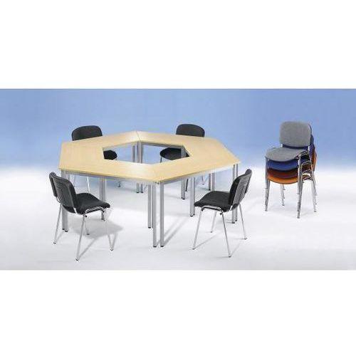 Stół uniwersalny, w kształcie trapezu, dł. x szer. x wys. 1400x700x740 mm, blat