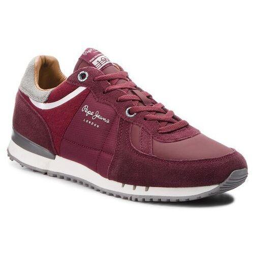 Sneakersy PEPE JEANS - Tinker 1973 PMS30484 Bordeaux 298, w 2 rozmiarach