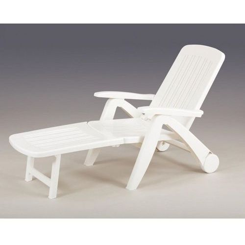 Leżak ogrodowy Cancum biały