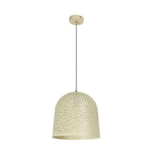LAMPA wisząca GERDA 5912 Rabalux metalowa OPRAWA kopuła ZWIS ażurowy żółty