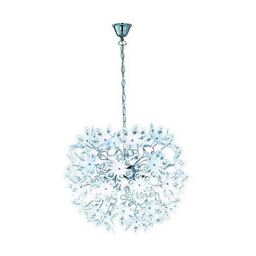 rl blowball r11905001 lampa wisząca zwis 5x40w e14 chrom / biały marki Trio