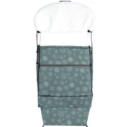 śpiworek do wózka/fusak combi płatek śniegu, szary/biały marki Emitex
