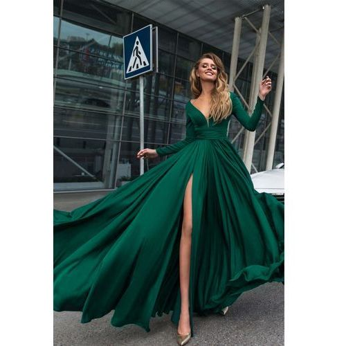 Sukienka OPHELIA GREEN, kolor zielony