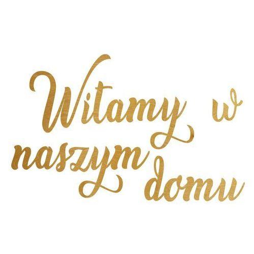Dekoracja drewniana napis na ścianę witamy w naszym domu - 4 mm marki Congee.pl