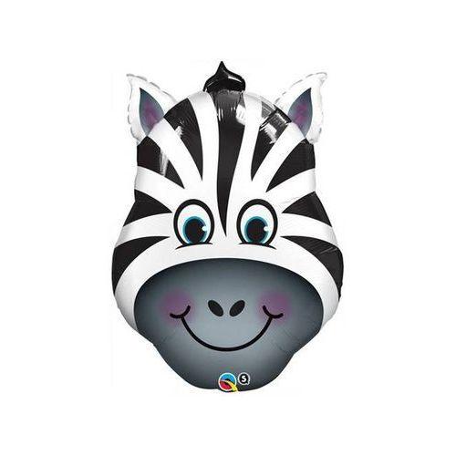 Go Balon foliowy zebra - 81 cm - 1 szt.