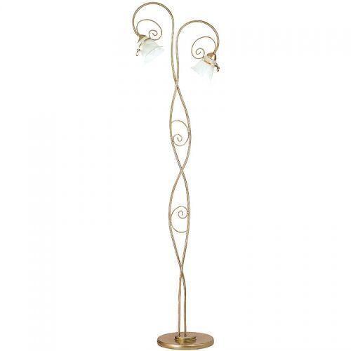 Lampa podłogowa stojąca oprawa Luminex Kokarda 2x60W E14 złoty 0075, 0075