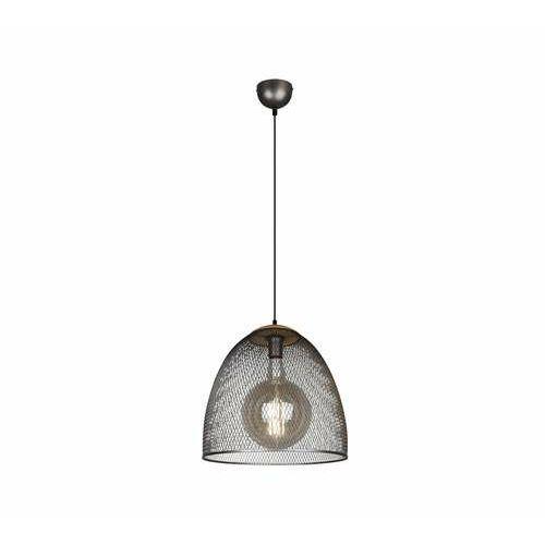 Trio ivar 309090167 lampa wisząca zwis 1x40w e27 niklowa/drewniana (4017807173413)
