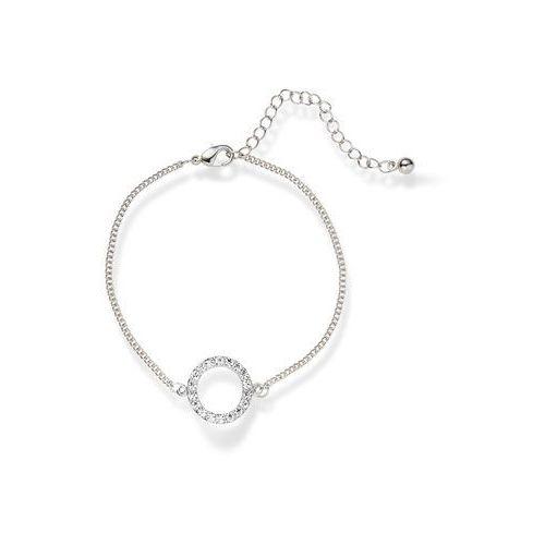 Bonprix Bransoletka z kryształami swarovskiego® srebrny kolor rodowany