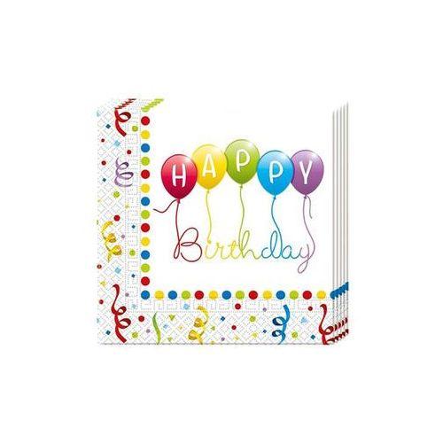 "Serwetki ""happy birthday baloniki"", 33 cm, procos, 20 szt marki Procos non-disney"