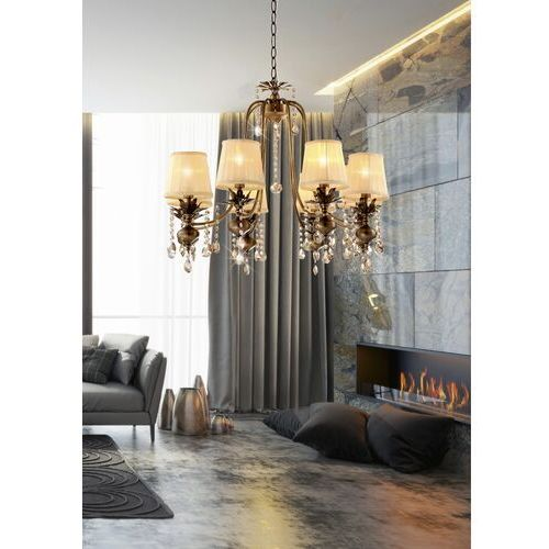 Lampa wisząca Candellux Adonis 8x40W E14 patyna 38-13873, 38-13873