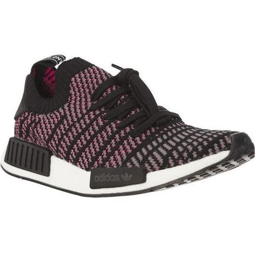 Adidas nmd r1 stlt primeknit core black grey four solar pink - buty męskie sneakersy