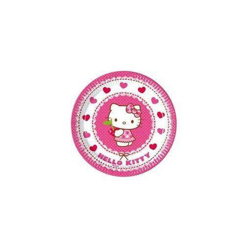 Talerzyki urodzinowe Hello Kitty Serca - 20 cm - 8 szt. (5201184817926)