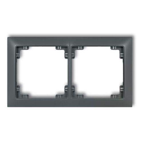 DECO Ramka uniwersalna podwójna z tworzywa DECO Soft złoty 29DRSO-2