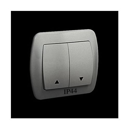 Przycisk żaluzjowy bryzgoszczelny IP44, 10AX, 250V~, zaciski śrubowe; aluminiowy