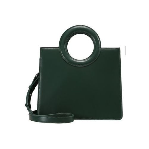 Topshop SHASTA CIRCLE HANDLE BOX TOTE Torebka green (5045441237047)
