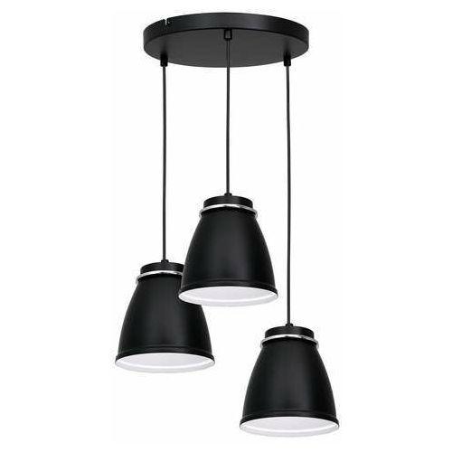 Luminex Lerdo 1941 lampa wisząca zwis 3x60W E27 czarna/chrom (5907565919417)