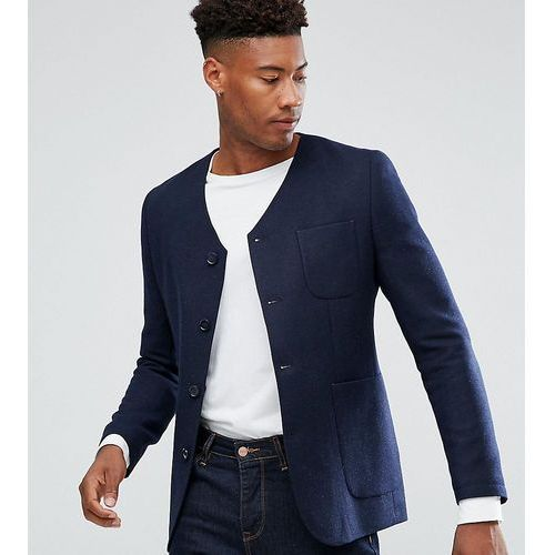 tall high break slim worker jacket - navy, Heart & dagger