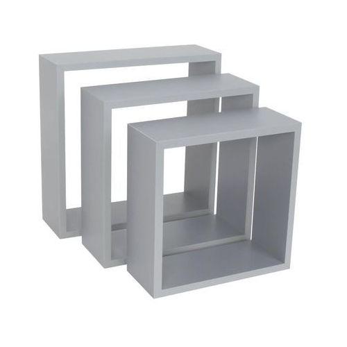 Zestaw 3 półek dekoracyjnych cube marki Spaceo