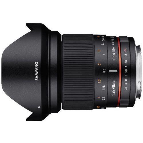 20 mm f/1.8 / canon ef wyprodukowany przez Samyang