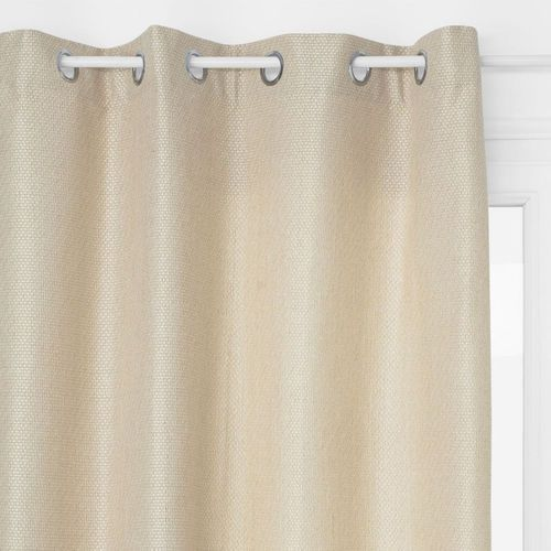Atmosphera créateur d'intérieur Zasłona okienna, kolor beżowy, metalowe zakończenie otworów na karnisz, materiały: poliester, wiskoza, bawełna, wymiary 260 x 140 cm (3560239693291)