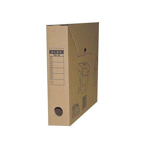 Karton archiwizacyjny tric 10 na zawartość segregatora 5,5cm brązowy 100552622 marki Elba