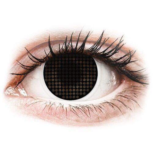 Maxvue vision Soczewki kolorowe czarne black screen crazy lens 2 szt. (9555644810849)