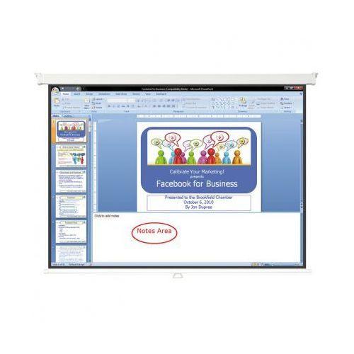 Ekran projekcyjny, manualny, 1800 x 1800 mm marki B2b partner