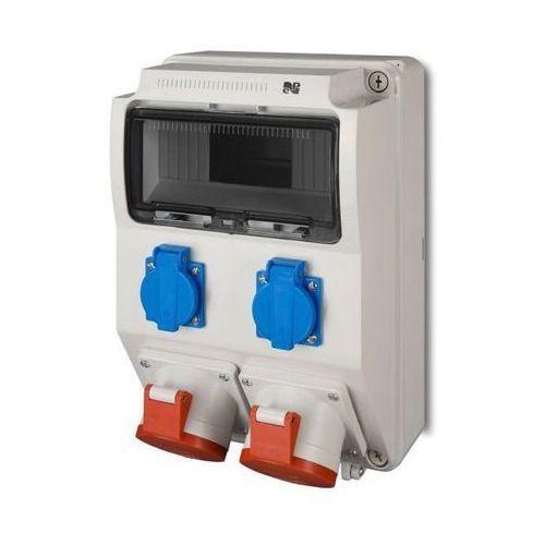 Rozdzielnica siłowa rs natynkowa 9-modułowa 2x230v 1x16a/5p 1x32a/5p 6223-00 elektro-plast marki Elektro-plast nasielsk