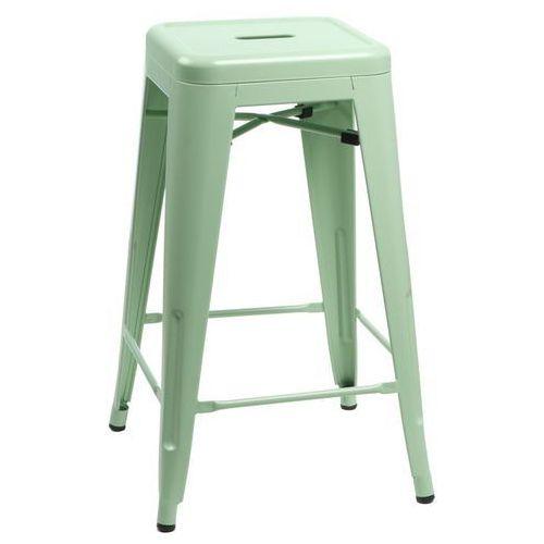 Stołek barowy Paris 66 cm zielony inspirowany Tolix, T_59af2bdf-cd70-4f2e-9446-bcc4c7826332