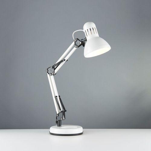 Searchlight Eu2429wh goliath lampa biurkowa biała ruch