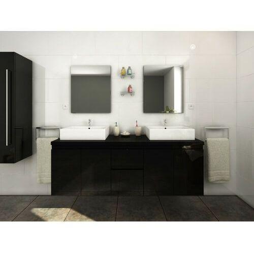 Meble łazienkowe lavita ii podwieszane z podwójną umywalką i lustrami - czarny marki Vente-unique
