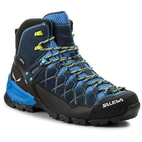 Trekkingi - alp trainer mid gtx gore-tex 63432-0361 dark denim/cactus 0361 marki Salewa