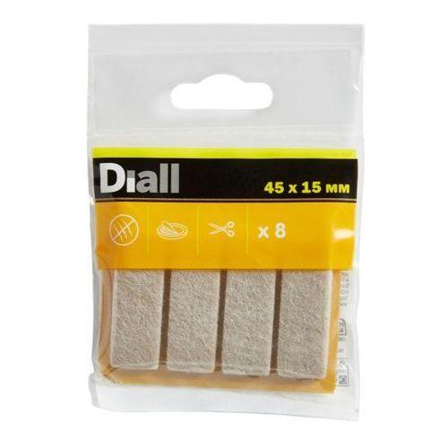 Podkładki samoprzylepne filcowe 45 x 15 mm beżowe 8 szt. marki Diall