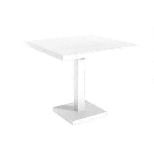 Stół Barcino 90x90 cm z bazą biały centralną - biały