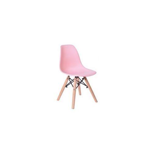 Krzesło Monza Kids - małe krzesełko dla dziecka w kolorze różowym, kolor różowy