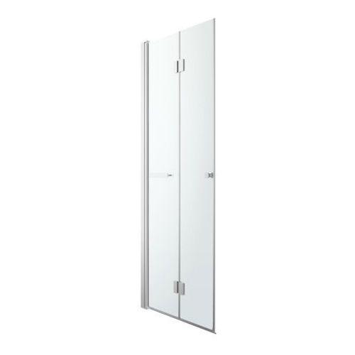 Goodhome Drzwi prysznicowe składane beloya 80 cm chrom/transparentne (3663602945277)