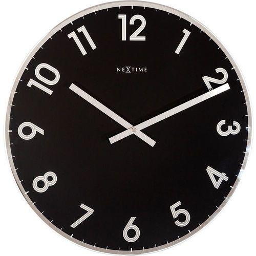 Zegar ścienny Reflect czarny Nextime 43 cm (8190 ZW), kolor czarny