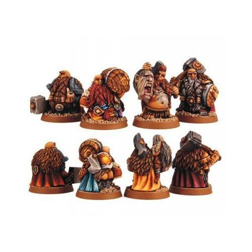 Scibor 28fm0007 - dwarf adventurers [4szt] 28mm marki Scibor miniatures