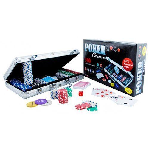 Poker Casino. 300 żetonów. Gra karciana - Zakupy powyżej 60zł dostarczamy gratis, szczegóły w sklepie - sprawdź w wybranym sklepie
