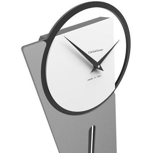 Zegar ścienny z wahadłem Sherlock CalleaDesign jasnobrzoskwiniowy (11-005-22), kolor różowy