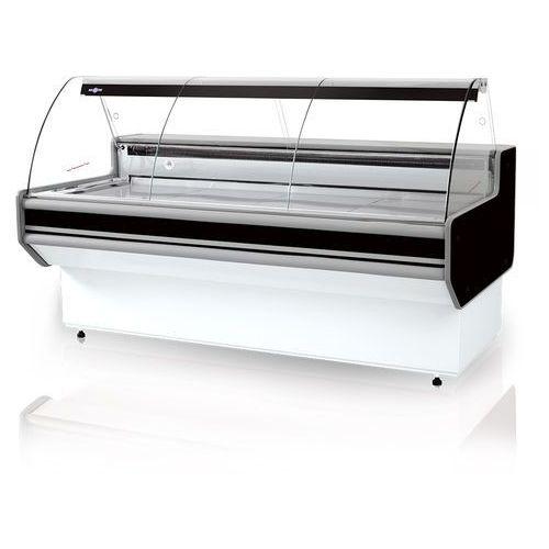 Lada chłodnicza z szybą giętą, blatem ze stali nierdzewnej (szlif), 1790x900x1220 mm | RAPA, L-B1 179/90