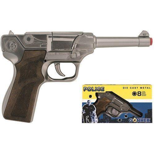 Metalowy pistolet policyjny 8 naboi (8410982012465)