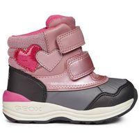 Geox dziewczęce buty zimowe za kostkę new gulp, 20, różowy/szary (8058279500730)