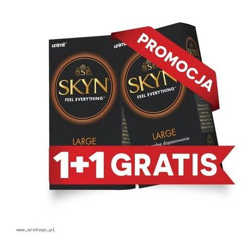 Unimil: 2 za 1 skyn large nielateksowe (2 x 10 szt.) marki Unimil (pol)